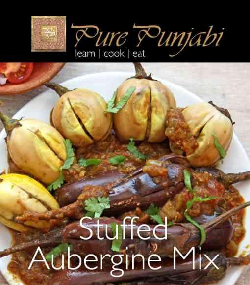 Pure Punjabi Stuffed Aubergines Mix, Indian meal kits, purepunjabi.co.uk