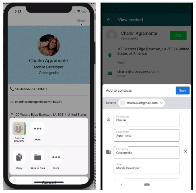 Contact Sharing in Xamarin Forms