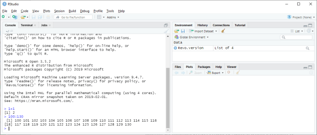RStudio - First example