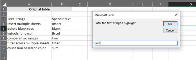 Microsoft Excel - Run HighlightStrings macro