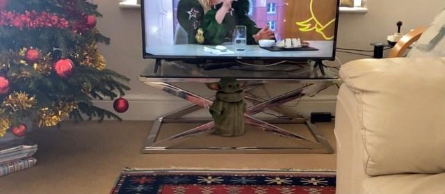 Grogu in 3D in my living room