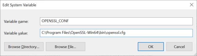 Edit System Variable on Windows 10