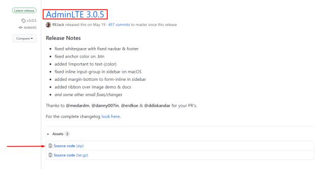 AdminLTE on GitHub - version 3.0.5