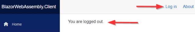 Log In in a Blazor app