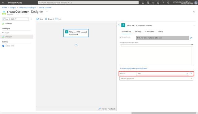 createCustomer: select HTTP method