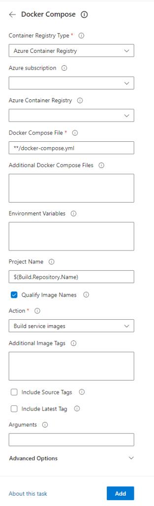 Azure DevOps Docker Compose