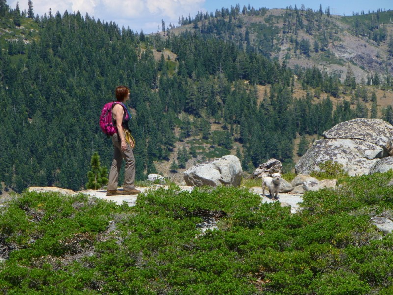 Kate and Biggs along the PCT