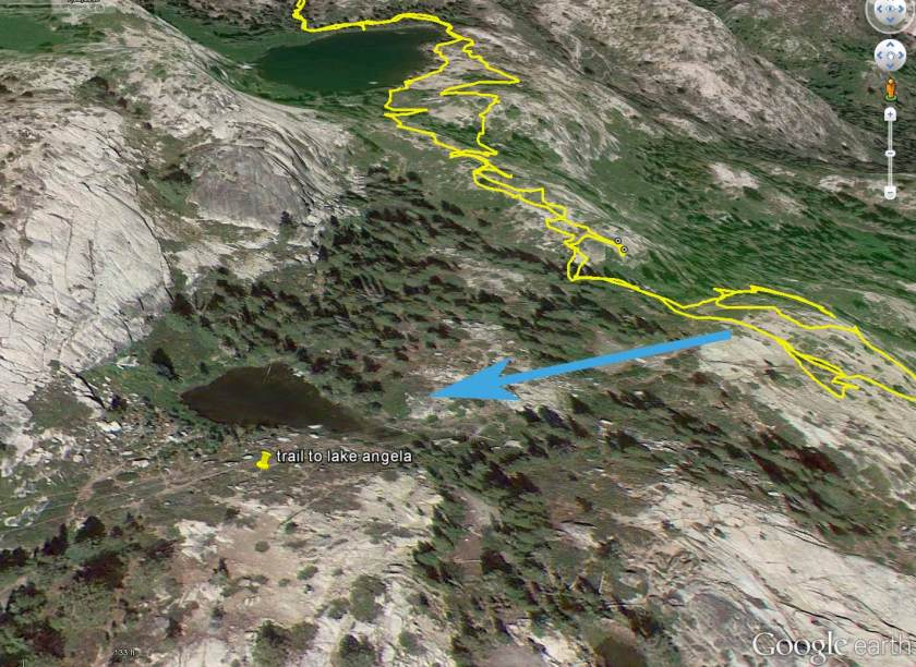 Google Earth map of flora lake