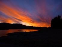 sunset at Jackson meadows lake