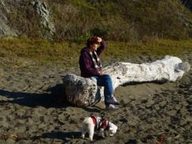 Kate and Biggs at Duncan Cove