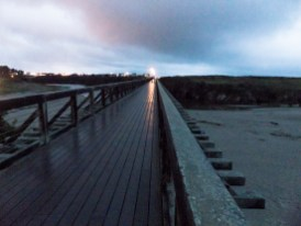Ft. Bragg on the other side of the Trestle bridge