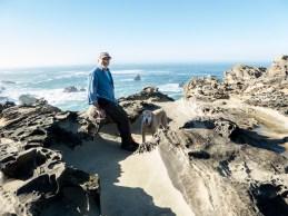 Sitting on mushroom rock with Ben