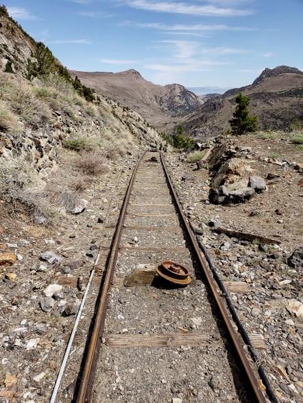 old rail car tracks