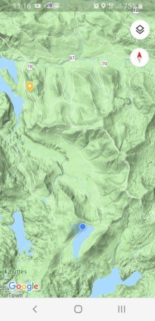 blue dot is when we got to meadow lake