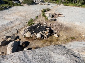 Found this fire pit in the granite off Rubican trail. Looks to have been used a lot. Huge.