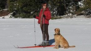 Kate and Ben Xcountry ski