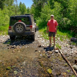 Exploring the back roads in the Jeep