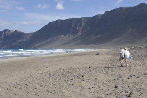 Stunning Back Drop of Famara Beach
