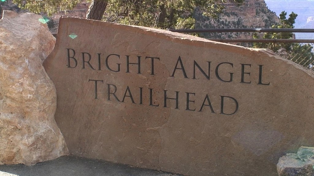 Bright Angle Trail Sign
