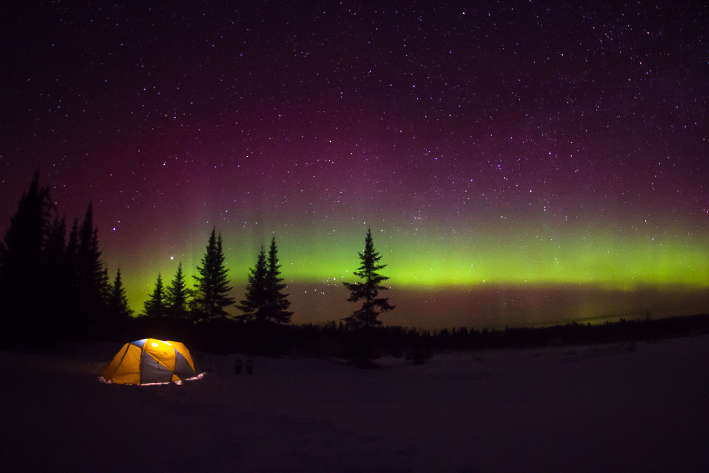Northern Lights in Cook County - Minnesota