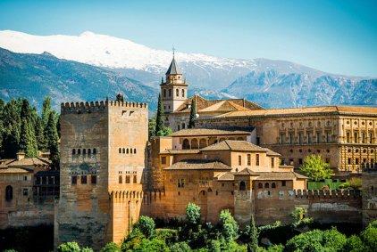 Red Castle in Granada