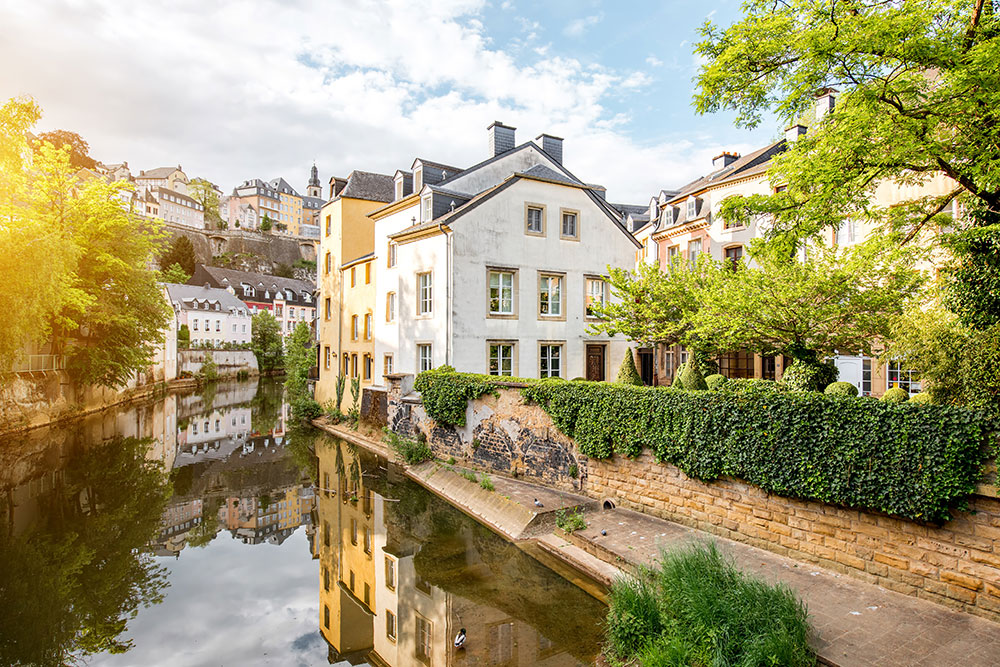 The old town of Luxembourg city