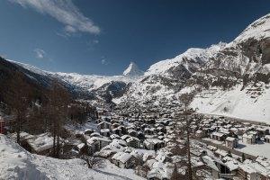 Zermatt, Switzerland with Matterhorn