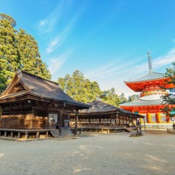 Konpon Daito Pagoda at Danjo Garan Temple in Koyasan, Wakayama