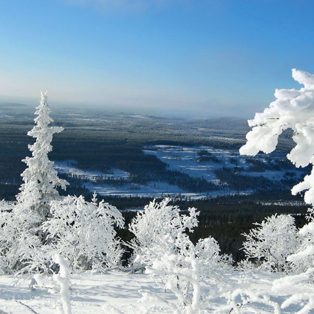 Beautiful winter day in Vemdalen, Sweden