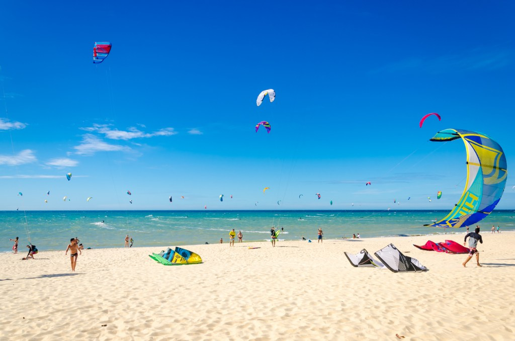 Kite Surfing in Cumbuco, Brazil