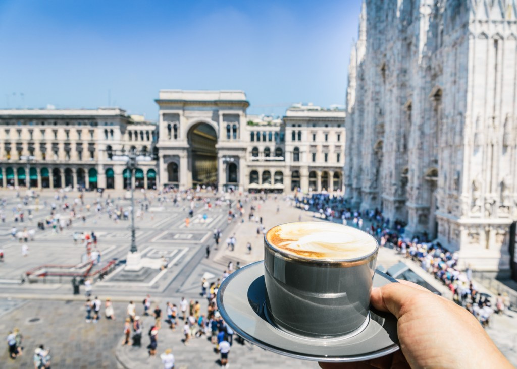 Cappuccino in Milan