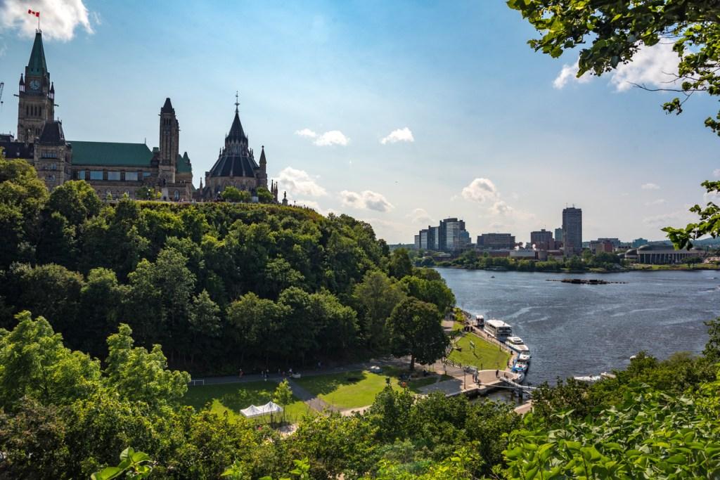 Ottawa View on Parliament Hill
