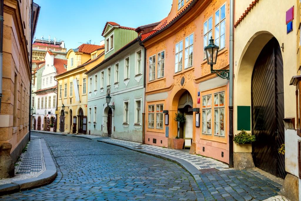 Old Street in Prague in the morning