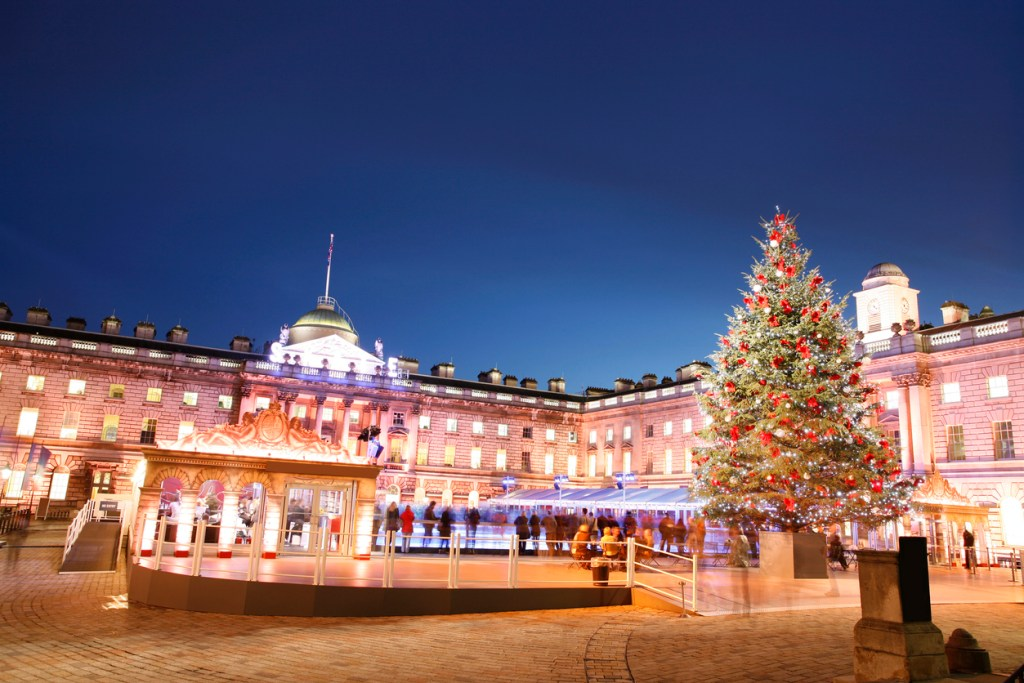 Night View of Somerset House in Strand, London.