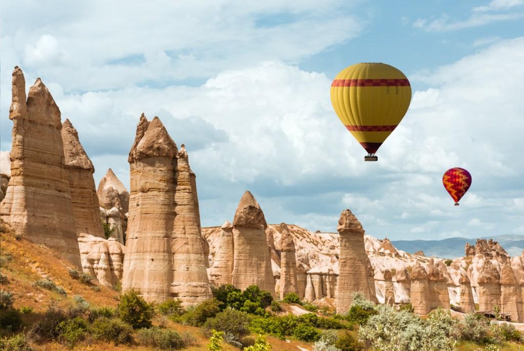 Air balloons over Love valley, Cappadocia Turkey