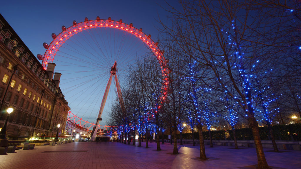 Outside view of London Eye