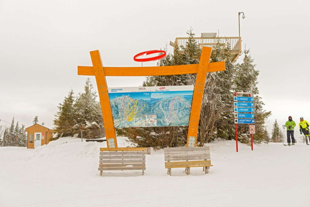 Mont Sainte Anne in Quebec, Canada