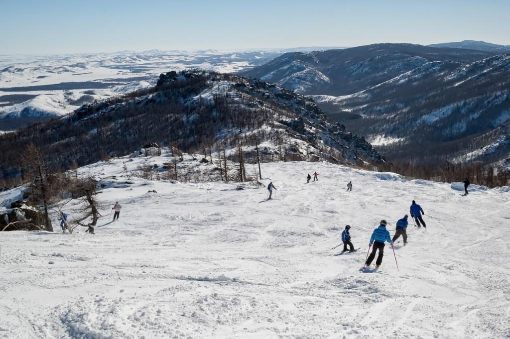 Skiing in Abzakovo, Russia