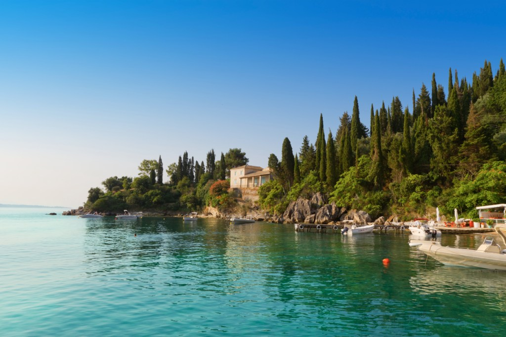 Agni bay on the North-East of Corfu island.