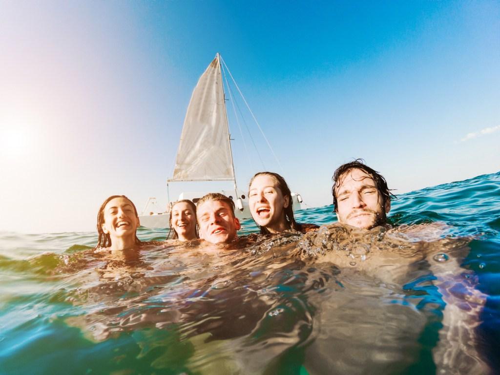 Swimming Fun in Ibiza