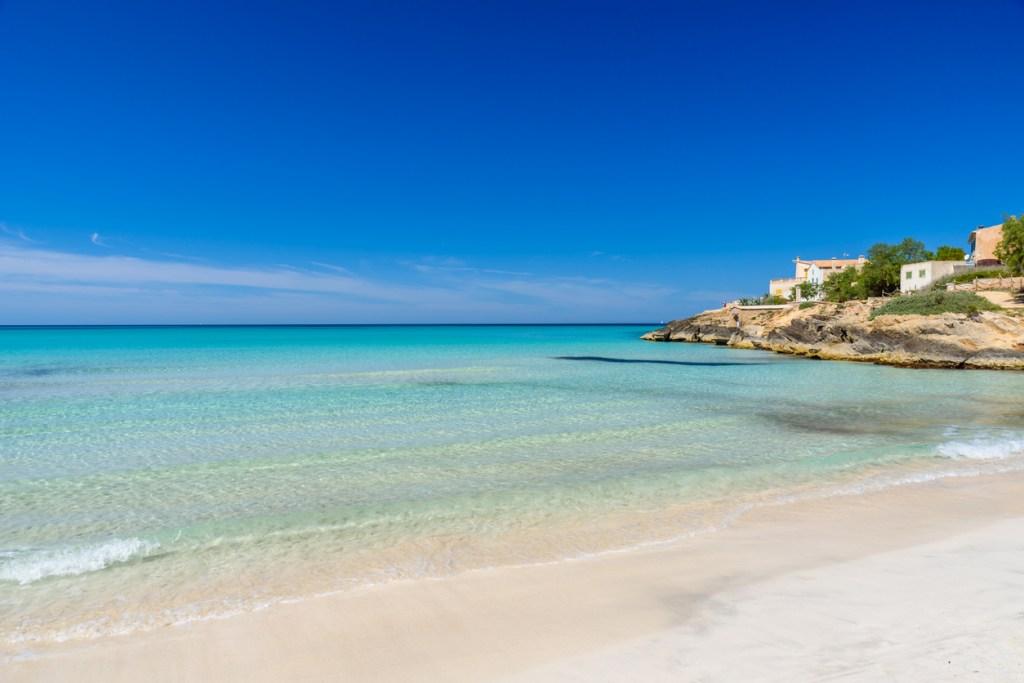 Beach Es Trenc - beautiful coast and beach of Mallorca, Spain