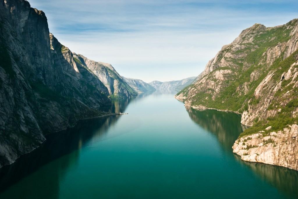 Kjerag plateau, Lysefjord, Norway.