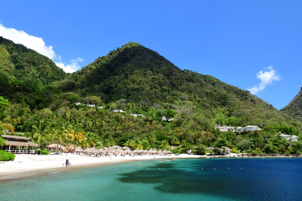 Pitons bay in Saint Lucia