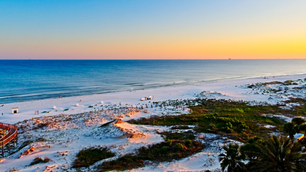 Sunset on the Beach in Gulf Shores