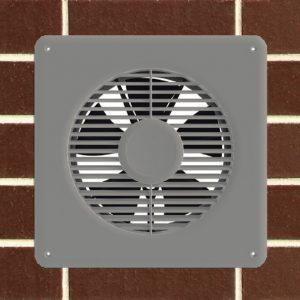 3 speed dc sub floor ventilation fan white