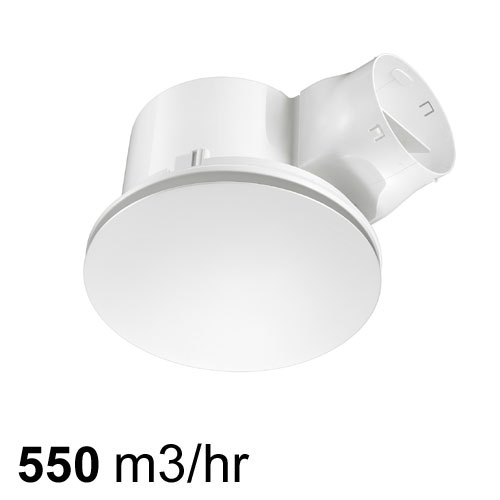 airbus 300 low profile exhaust fan white round