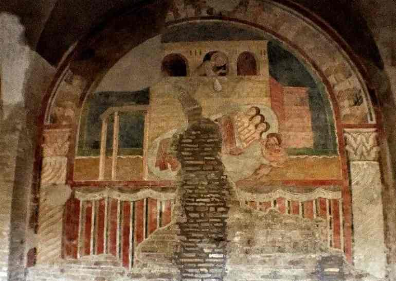 san saba mural rome italy eileen cotter wright