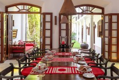 No. 39 Galle Fort Villa - Dining Area Layout