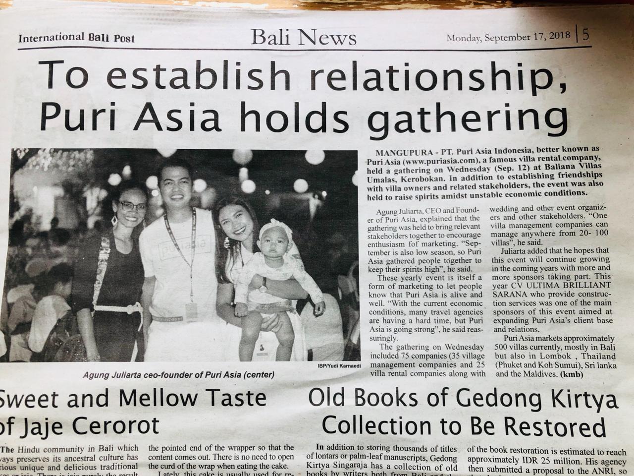 Puri asia gathering 2018