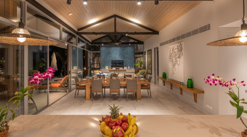 Eagles Nest Villa - Living and Dining Pavilion from Kitcchen